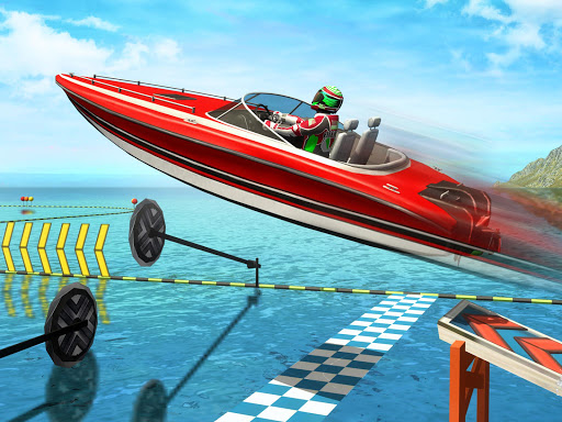 Water Surfer Speed Boat Stunts: Racing Games - screenshot