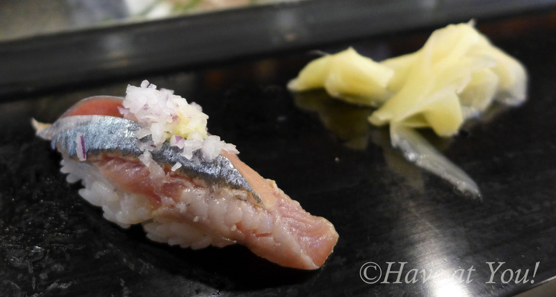 sushi with onions