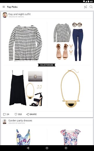 Screenshot 6 for Polyvore's Android app'