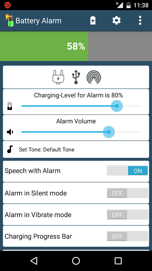 Windows 8 1 Set Battery Charge Level : Battery full alarm android apps on google play