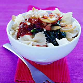 Pasta with Spinach, Feta Cheese & Bacon