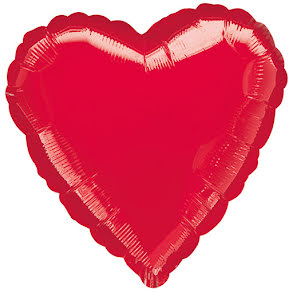 Folieballong, hjärta XXL röd