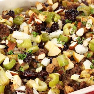 Cauliflower Rice and Sausage Stuffing (Gluten-free, Paleo).