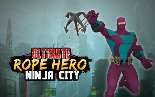Ultimate Rope Hero Ninja City  screenshots 1
