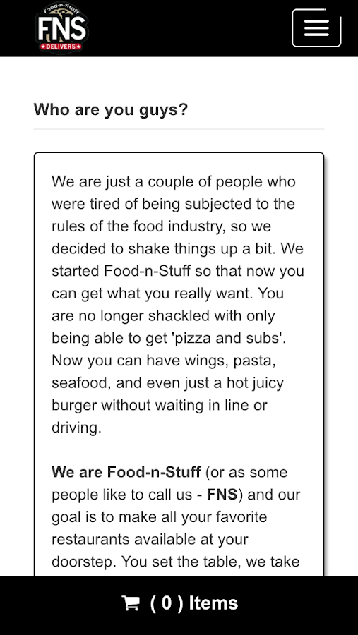 FoodNStuff Delivers- screenshot
