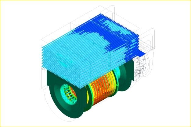 ANSYS - Тепловой расчет корпуса электродвигателя