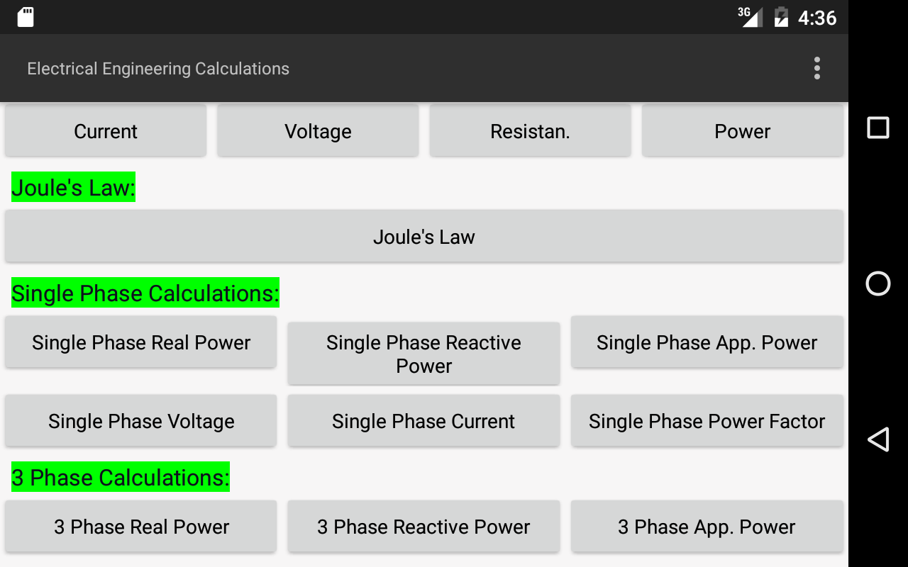 Electrical calculations android apps on google play electrical calculations screenshot nvjuhfo Choice Image