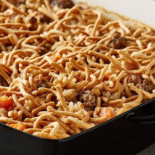 Hamburger-Rice Casserole.