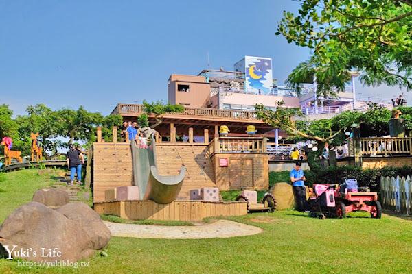 南投親子景點《星月天空夜景景觀餐廳》草泥馬×U型溜滑梯×鸚鵡秀表演從早玩到晚!