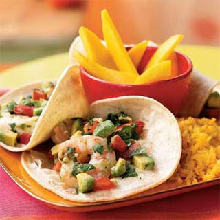Seviche-Style Shrimp and Avocado Tacos