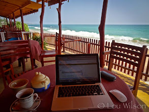 Photo: Sort of like wifi Starbucks This is the Blue Horizon Guest House Tangalle Sri Lanka