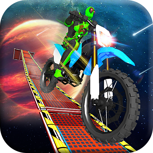 Superhero Moto Bike Race: Impossible Stunts