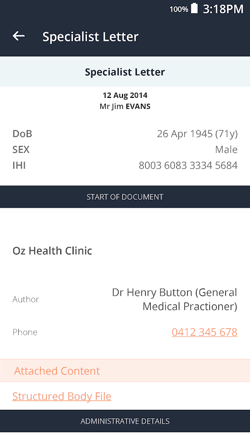 Healthi- screenshot