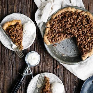 Maple Bourbon Pecan Pumpkin Pie