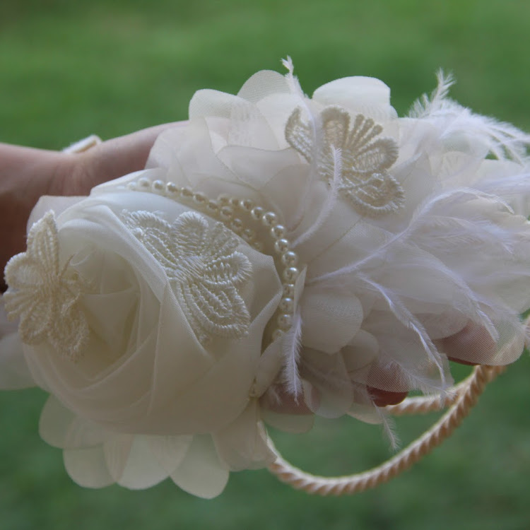 Butterfly/Rose Bridal Headband