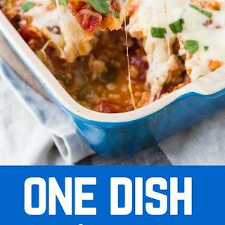One Dish Italian Chicken and Rice Bake.