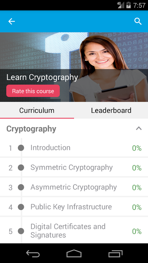 Learn Cryptography- screenshot