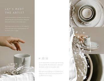 Custom Pottery - Business Brochure template