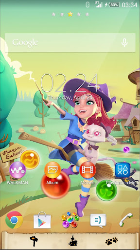 XPERIA™ Bubble Witch 2 Theme screenshot 1