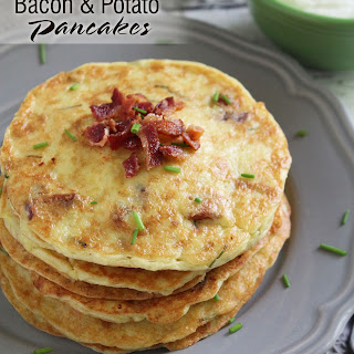 Potato & Bacon Pancakes {Gluten Free}
