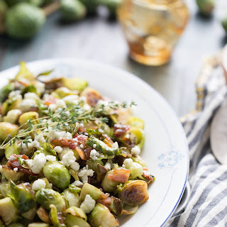 Sauteed Brussels Sprouts with Fig Glaze
