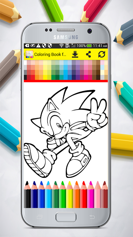 Coloring Book for Sonic - Android Apps on Google Play