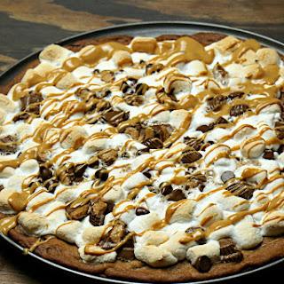 Chocolate Peanut Butter Dessert Pizza.