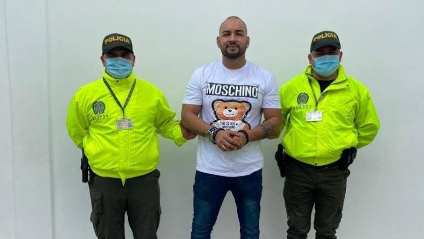 Detención de Maykol, en una imagen de la Policía de Colombia
