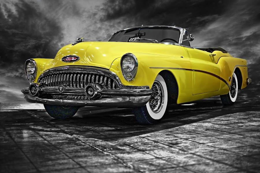 BUICK by JEFFREY LORBER - Transportation Automobiles ( jeffrey lorber, rust 'n chrome, car, yellow car, buick, 1950's, yellow, lorberphoto,  )