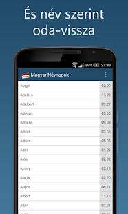 Magyar Névnapok lite- screenshot thumbnail
