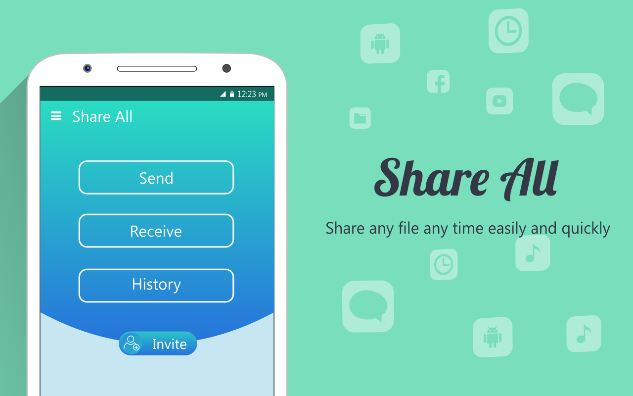 shareall file transfer u0026 data sharing android apps on google play