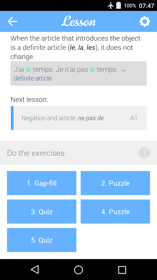 Dr French, French grammar- screenshot