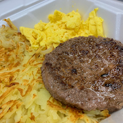 Two Eggs with Beef Patty