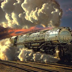 Big Boy, The 4-8-8-4 by Nickel Plate Photographics - Transportation Trains