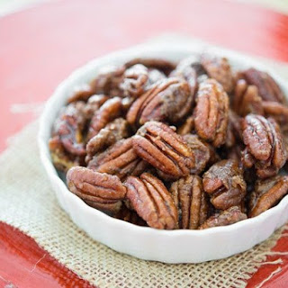 Stovetop Candied Pecans.