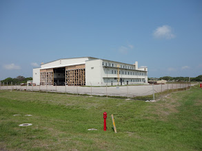 Photo: Werner von Braun's office was at the rear of the hanger.  Being 'restored' as we speak (new doors going in on the front).  Northwest of the pond.