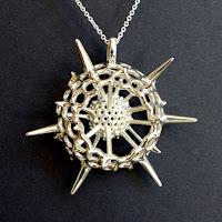 Spumellaria Radiolarian Pendant