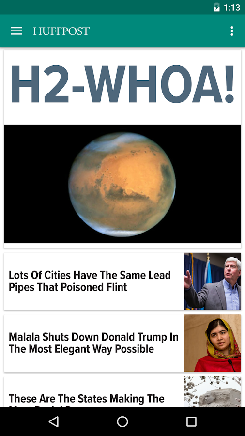 Huffington Post- screenshot