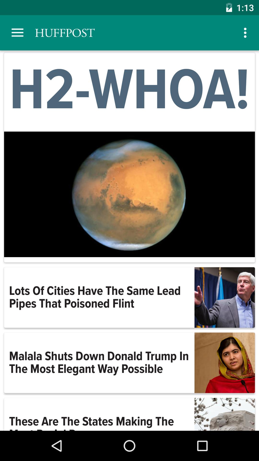Huffington Post screenshot #1