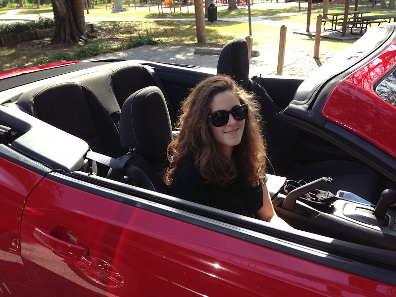 Photo: My dauguther and the Camero