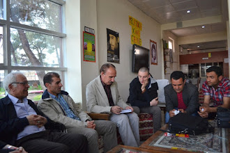 Photo: Visit in the Cultural Centre in Suruç. Meeting with with Mustafa Can and Kurdish teachers