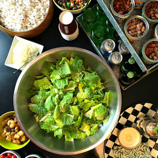 Caesar Salad Bar with Homemade Dressing