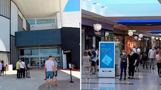 Centro Torrecárdenas en Almería y Gran Plaza en Roquetas en el día de reapertura con sus primeros clientes.