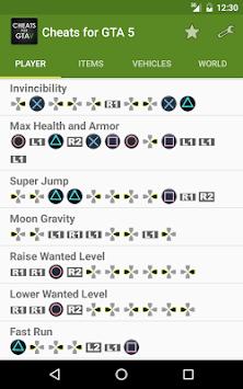 Download Cheats for <b>GTA</b> 5 (<b>PS4</b>/Xbox/PC) APK latest version app for ...