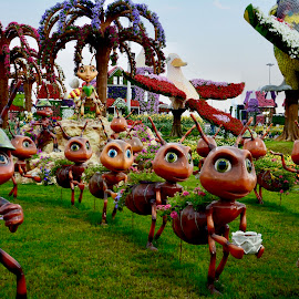 Even the Ants are Jubilant by Nadeem M Siddiqui - City,  Street & Park  City Parks