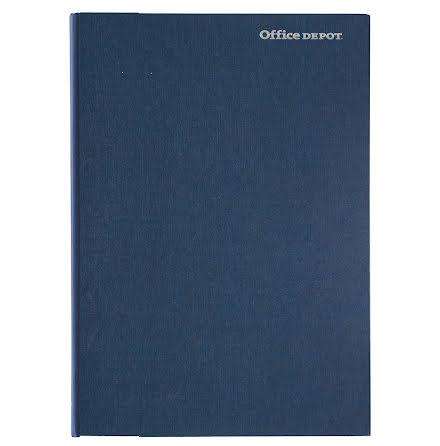 Anteckningsbok A4 inbunden blå