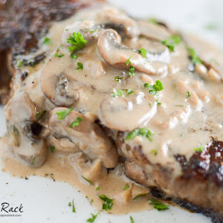 Steaks with Bourbon Cream Mushroom Sauce.