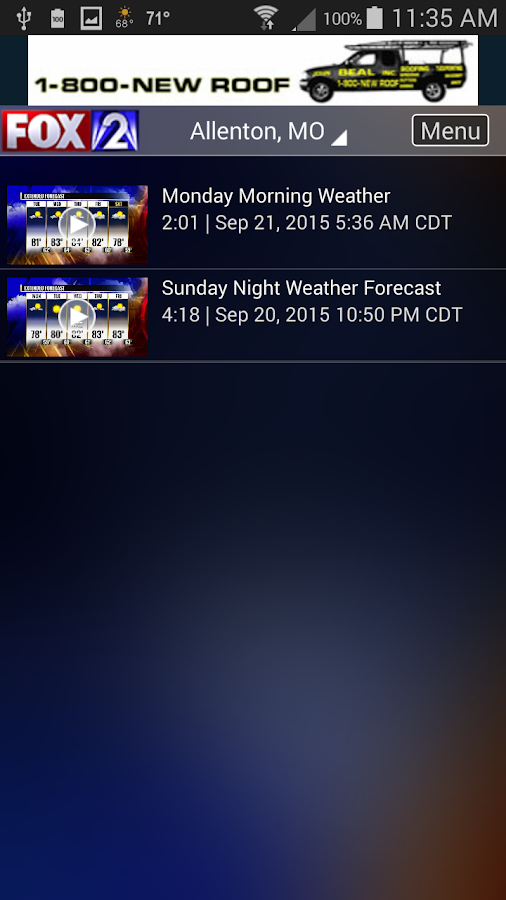 Fox 2 St Louis Weather- screenshot