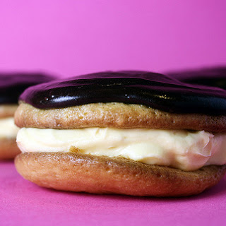 Grilled Pizza Sandwiches and Boston Cream Whoopie Pies