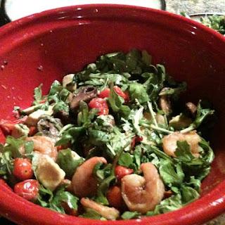 Shrimp and Avocado Salad Over Arugula